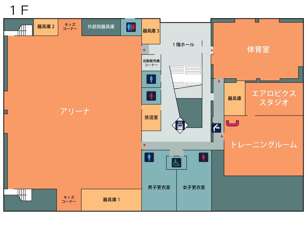 フロアマップ1階