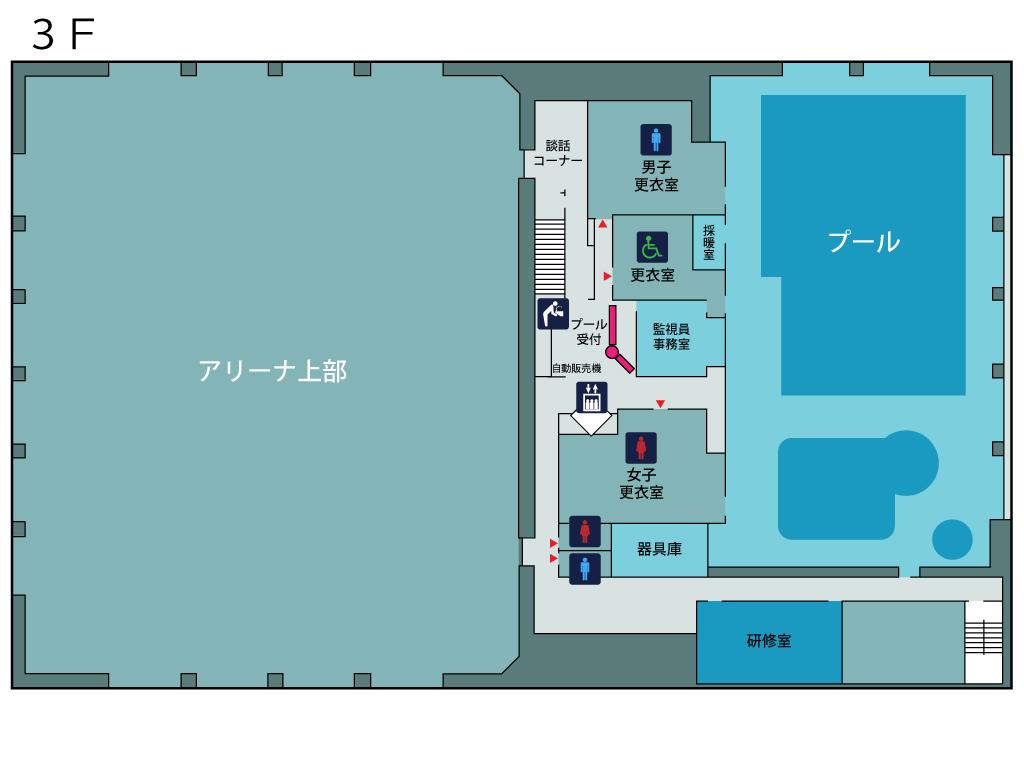 フロアマップ3階